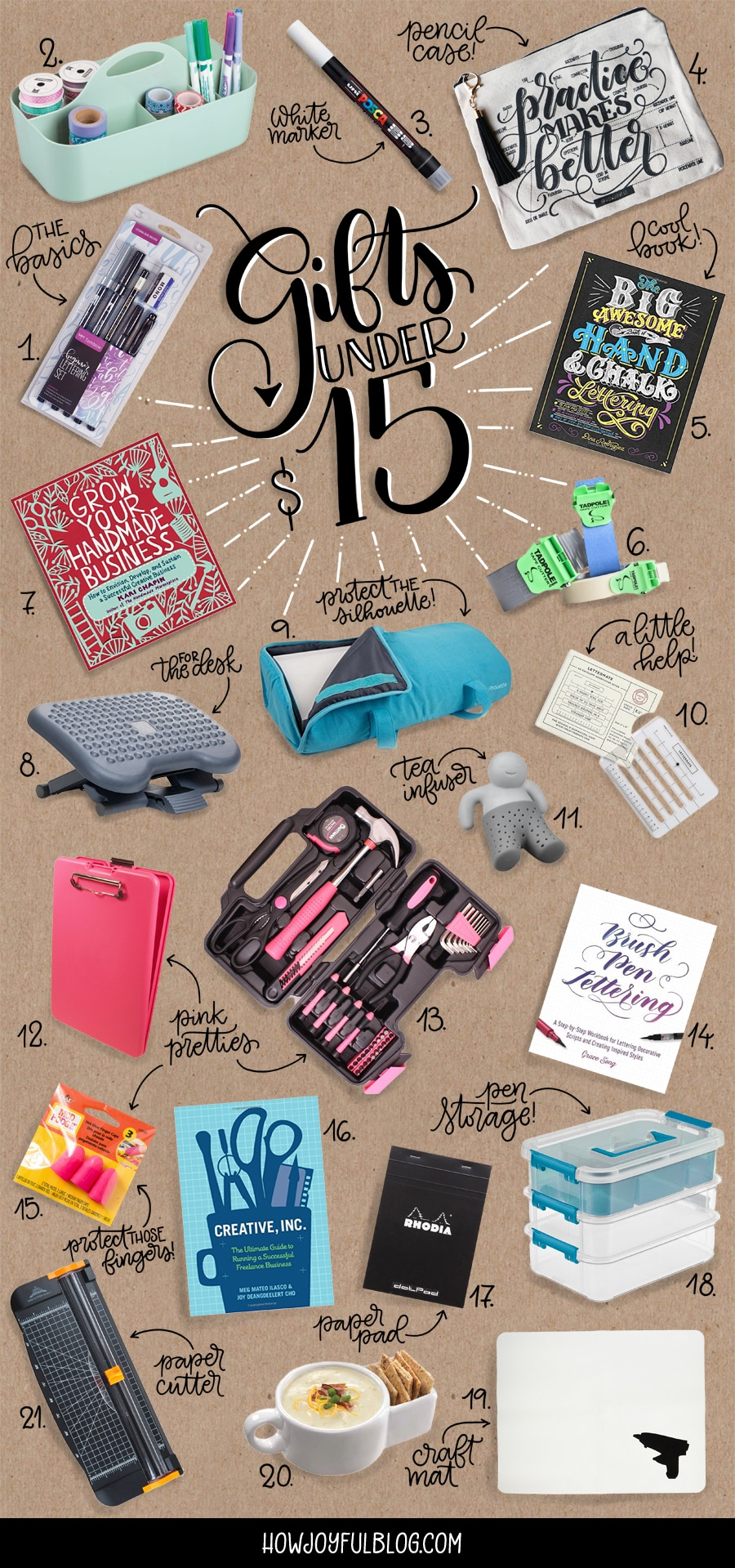 the best gifts for creatives under $15