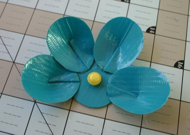 duck tape flower tutorial 13