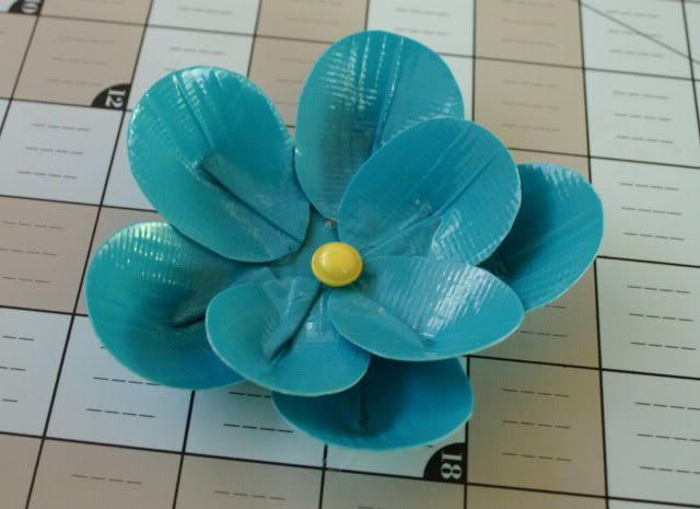 duck tape flower tutorial 14