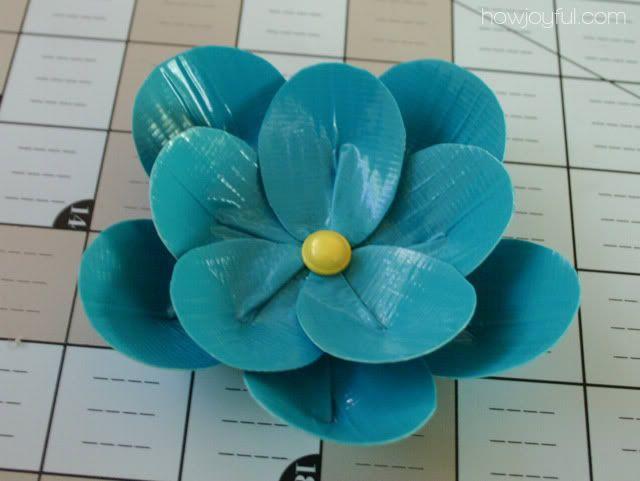 duck tape flower tutorial 15