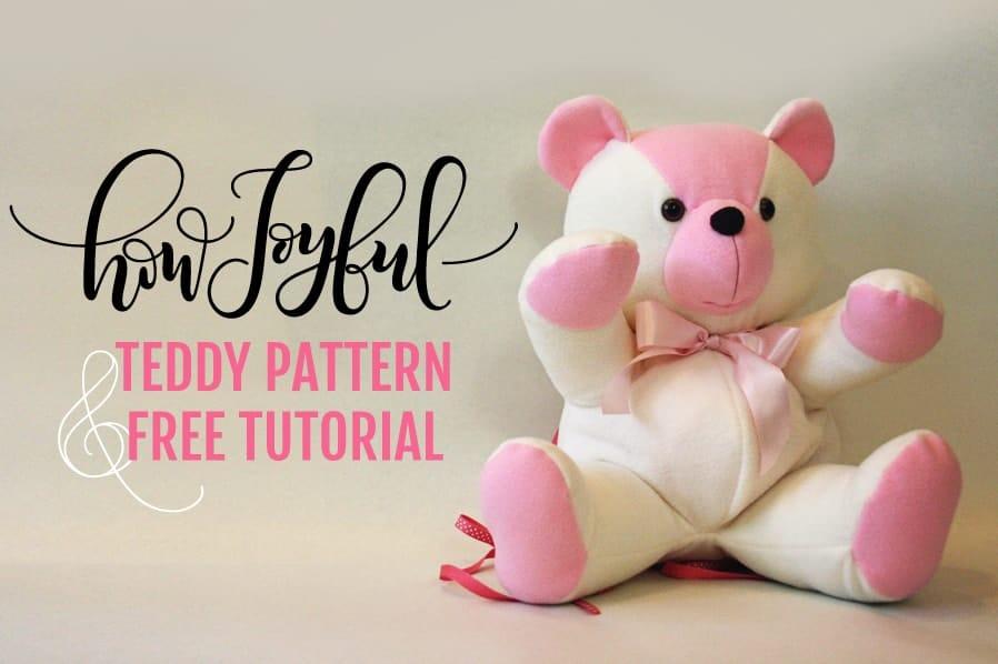 Sewing Stuffed Toy Sewing Pattern Plush Teddy Pattern Miniature Toy PDF Pattern Teddy Bear Tutorial Epattern SALE Sewing Diy