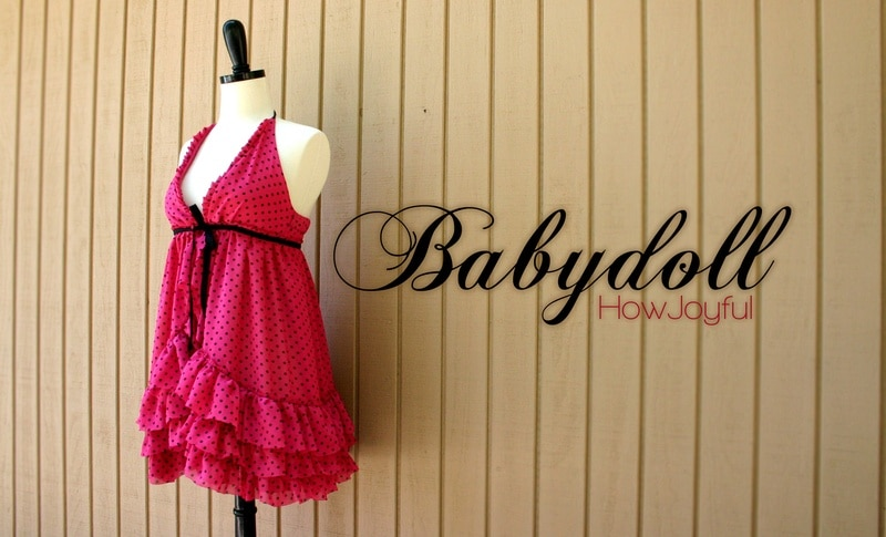 how to make a babydoll nightie