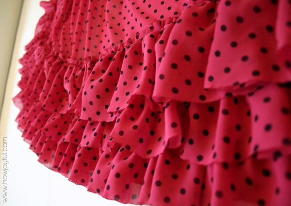 the ruffles of the babydoll