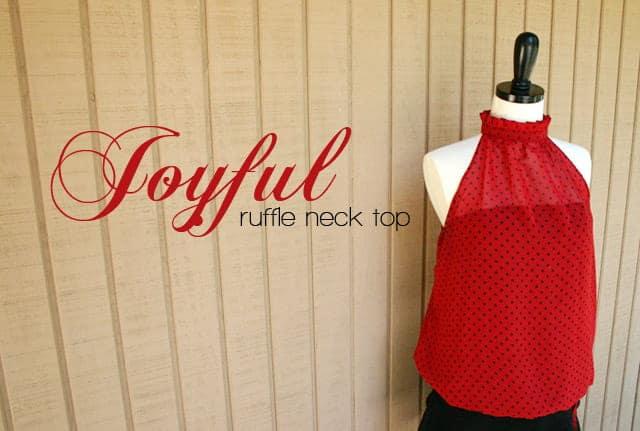 sewing ruffle top tutorial