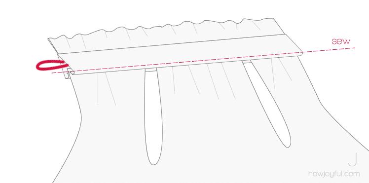 sewing top tutorial step 10
