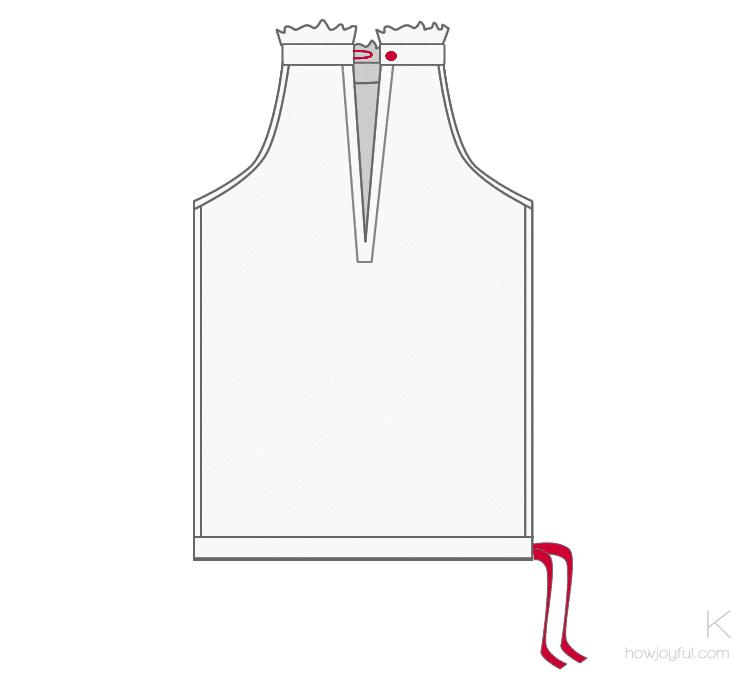 sewing top tutorial step 11