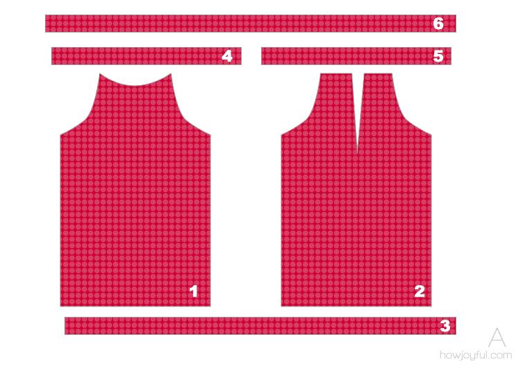 sewing top tutorial step 1