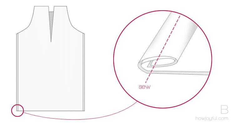 sewing top tutorial step 2