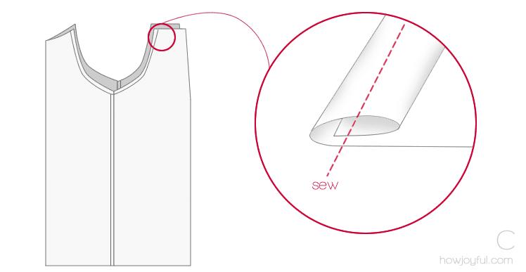 sewing top tutorial step 3