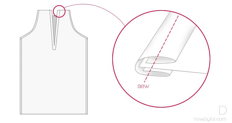 sewing top tutorial step 4