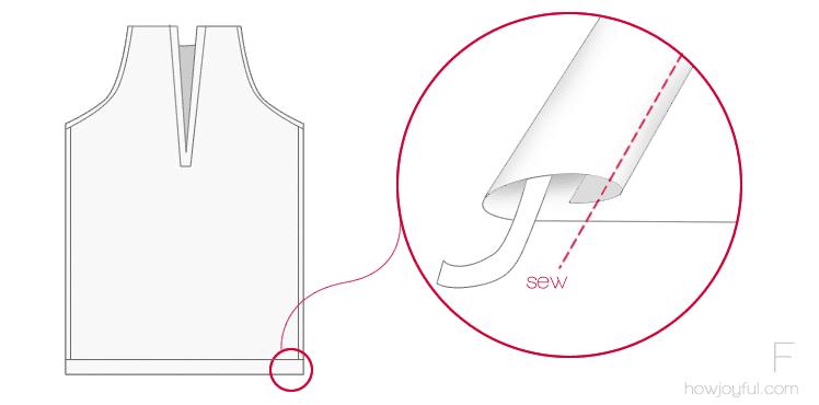 sewing top tutorial step 6