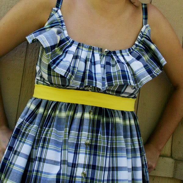 upcycling clothes to dress