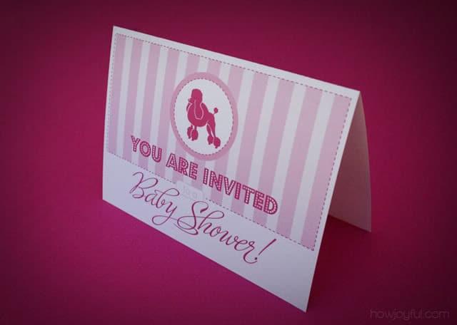 free invitation poodle