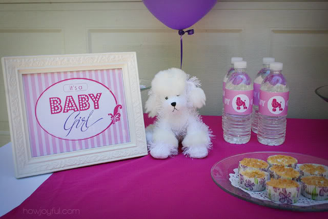 baby shower poodle