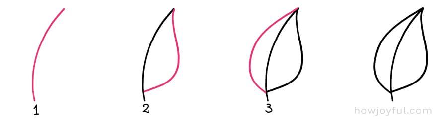 doodle leaf angle
