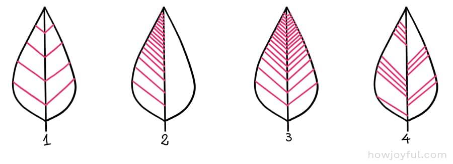 doodle leaf veining