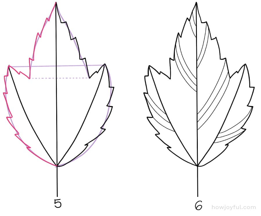 how to draw a red maple leaf