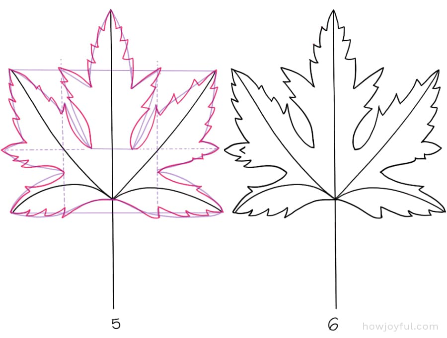 how to draw a silver maple leaf