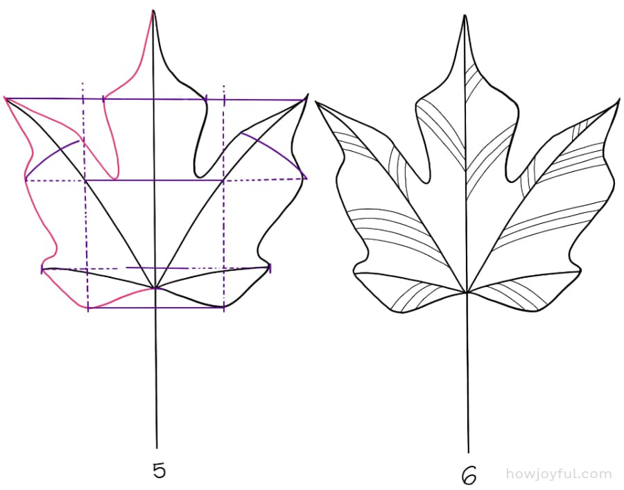 how to draw a sugar maple leaf