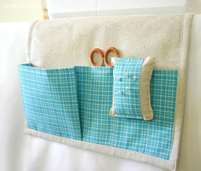 sewing caddy with pincushion