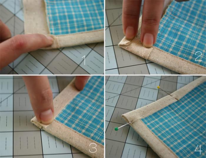 binding the corners