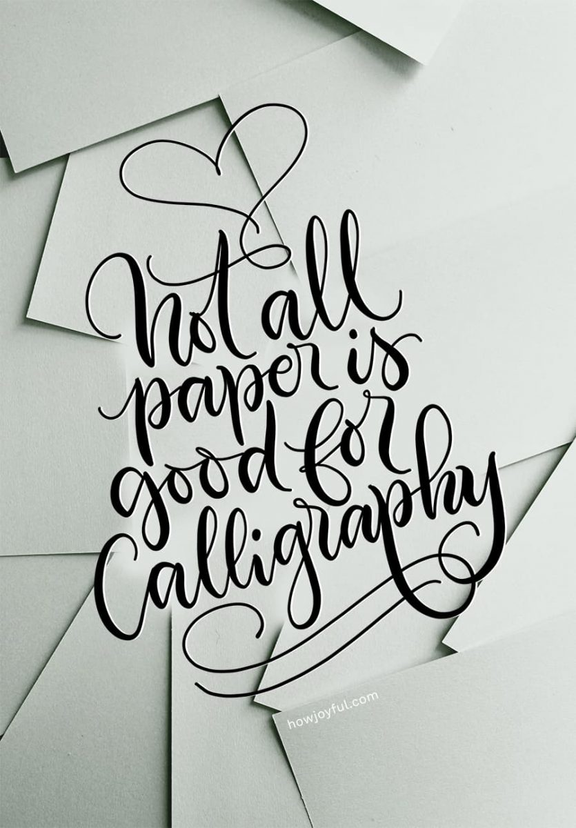 Calligraphy Paper The Best Ones For Practice Final Projects In 2020