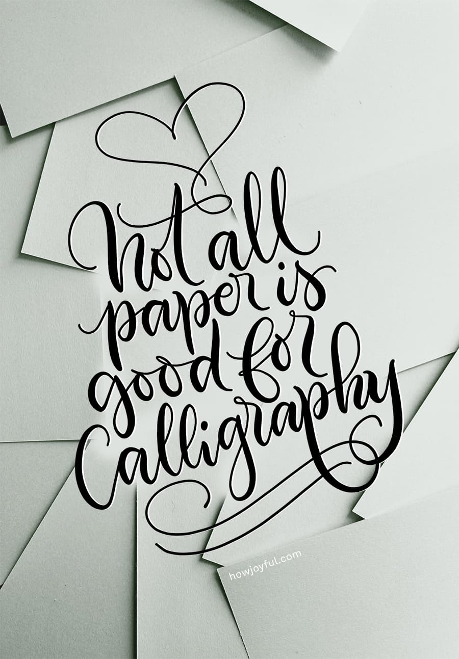 not all paper is good for calligraphy