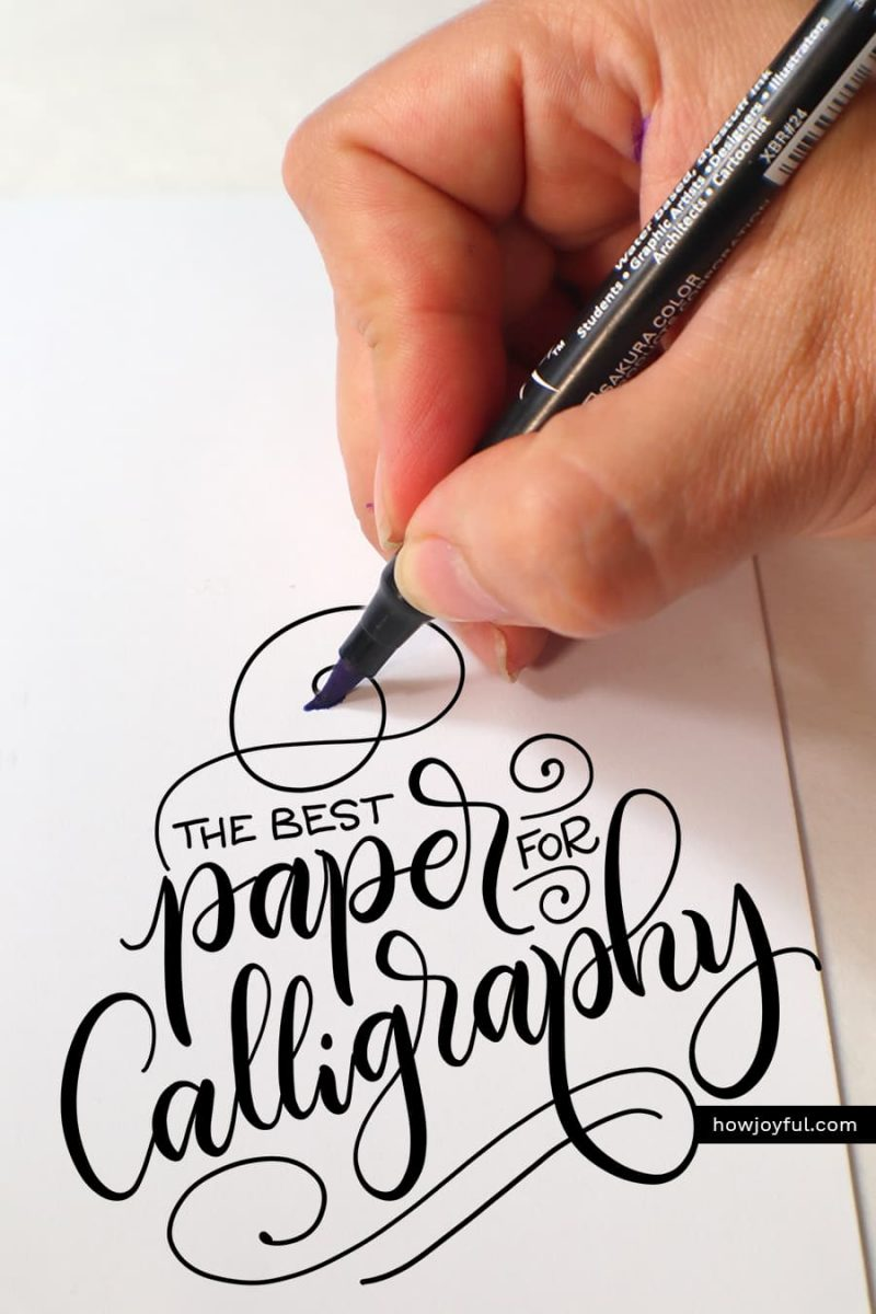 paper for brush pen calligraphy