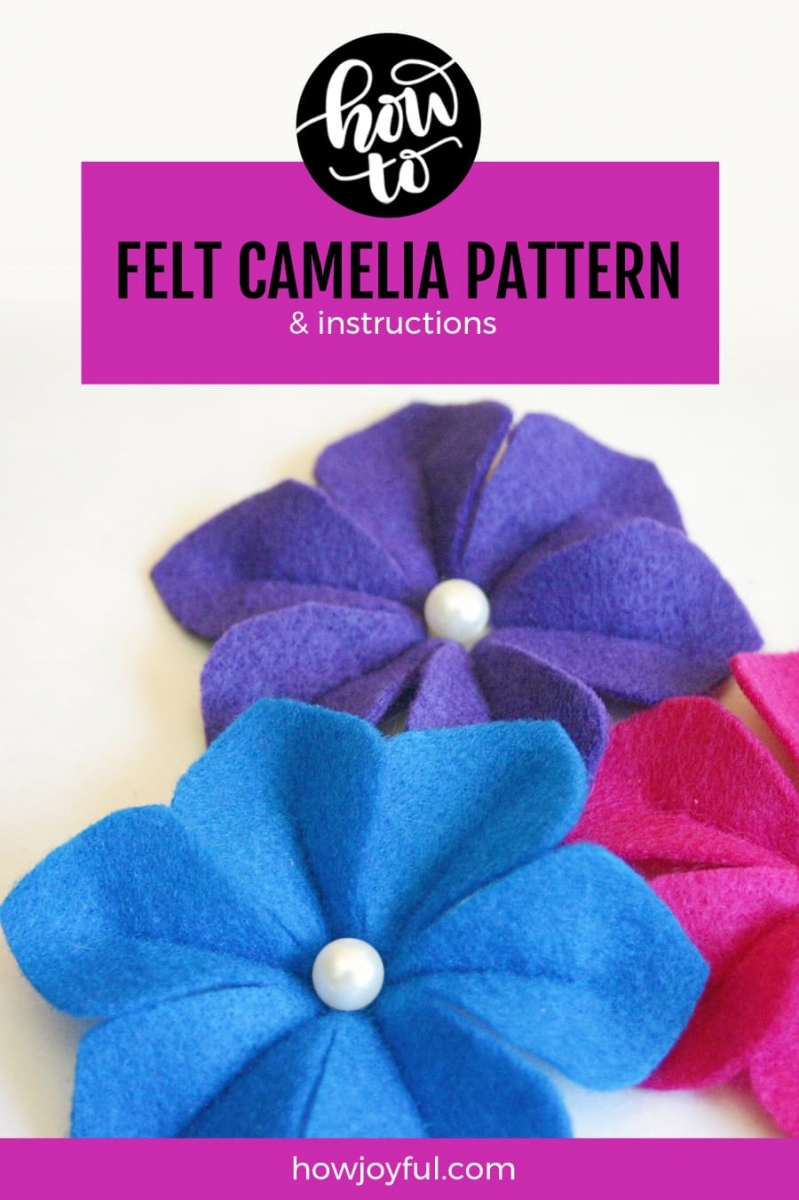 camelia felt flower