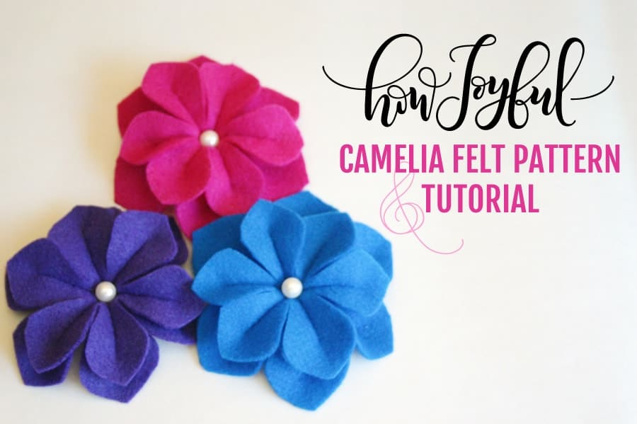 how to make a camelia with felt