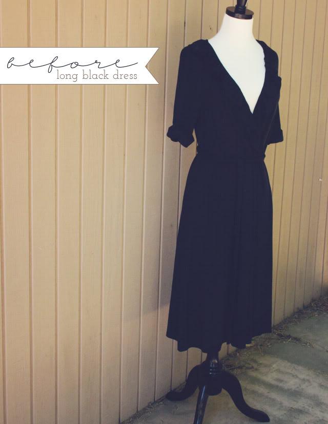 Black little dress transformation