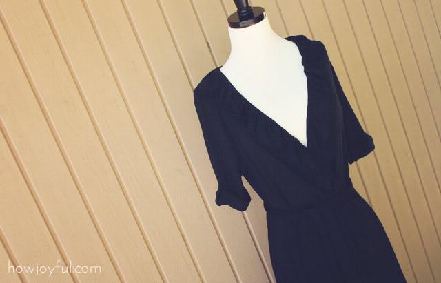 black dress side