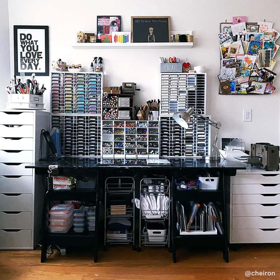 craft table organization