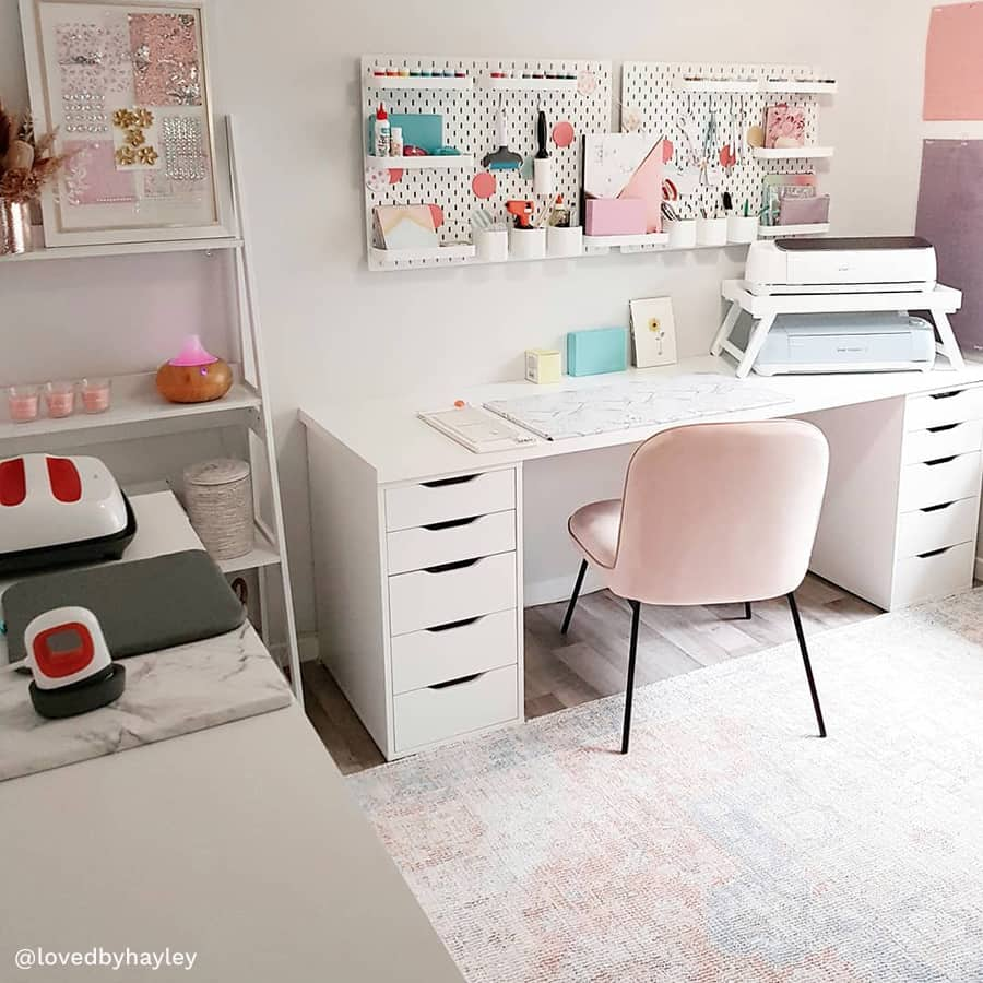 craft table with storage so cute