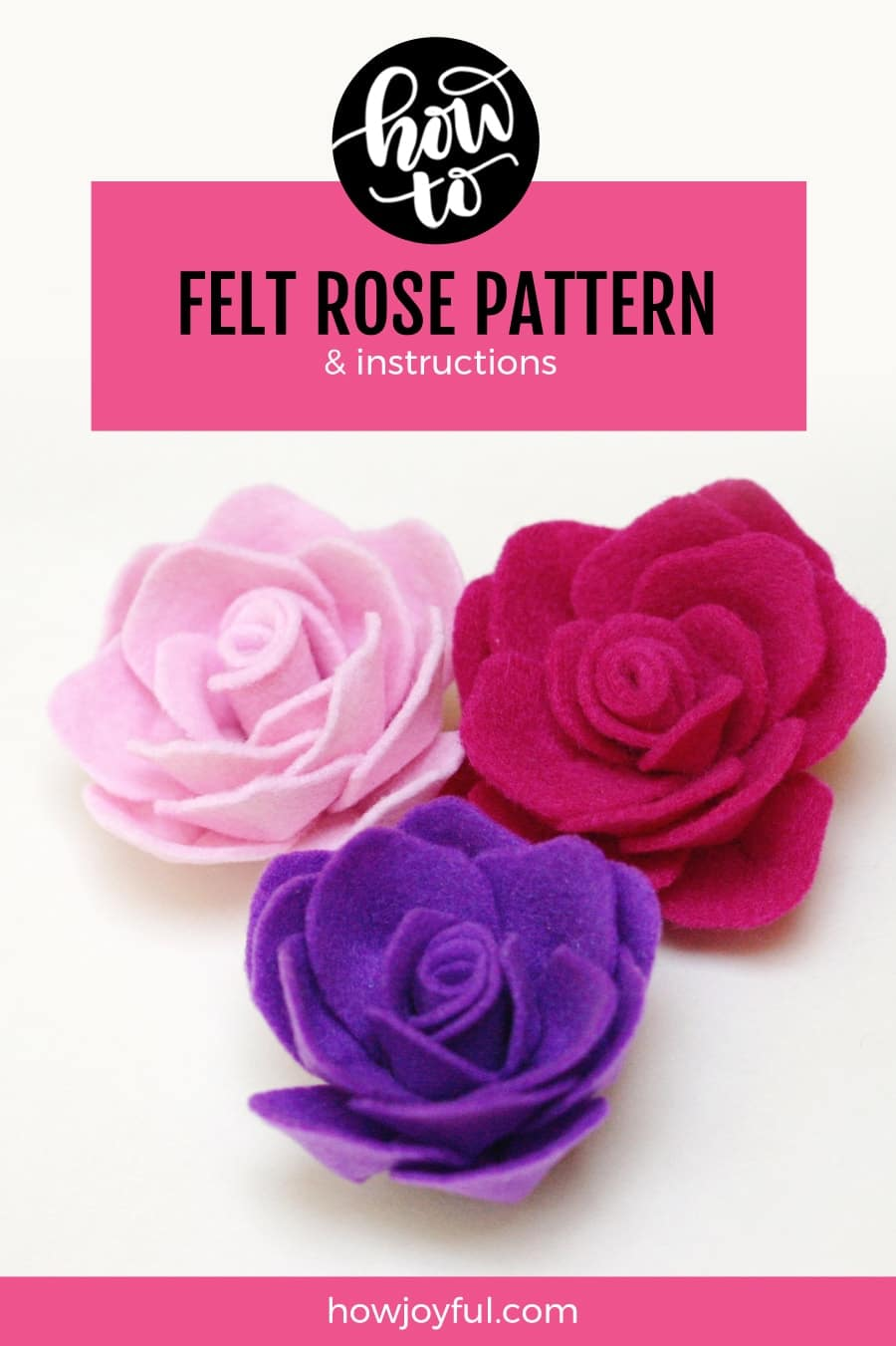purple felt rose