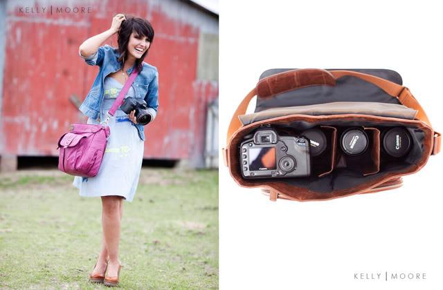 camera bag purse pink