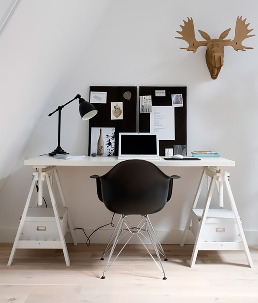 sawhorse desk inspiration