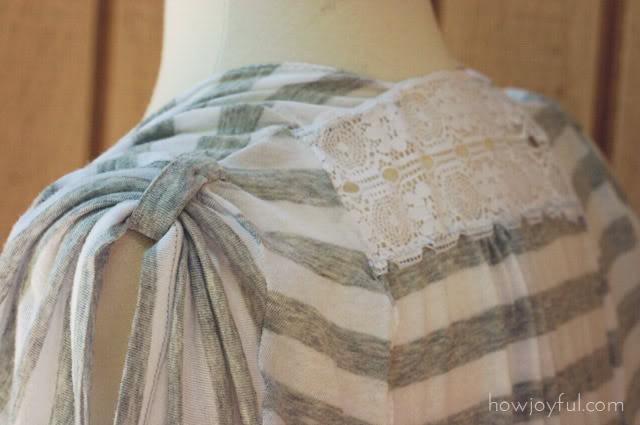 shoulder details of the vest