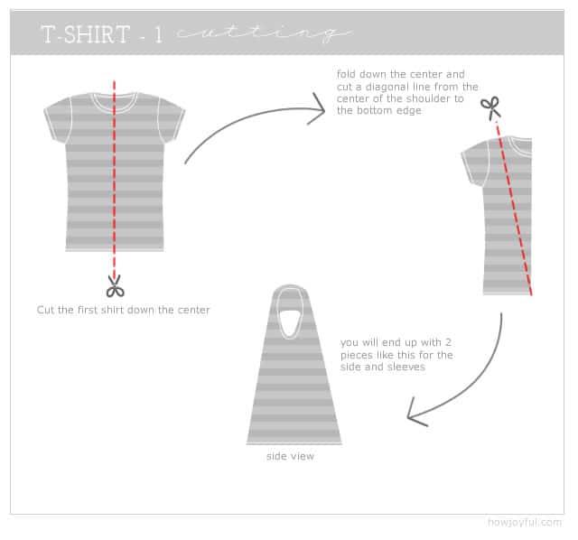 cutting the first t shirt