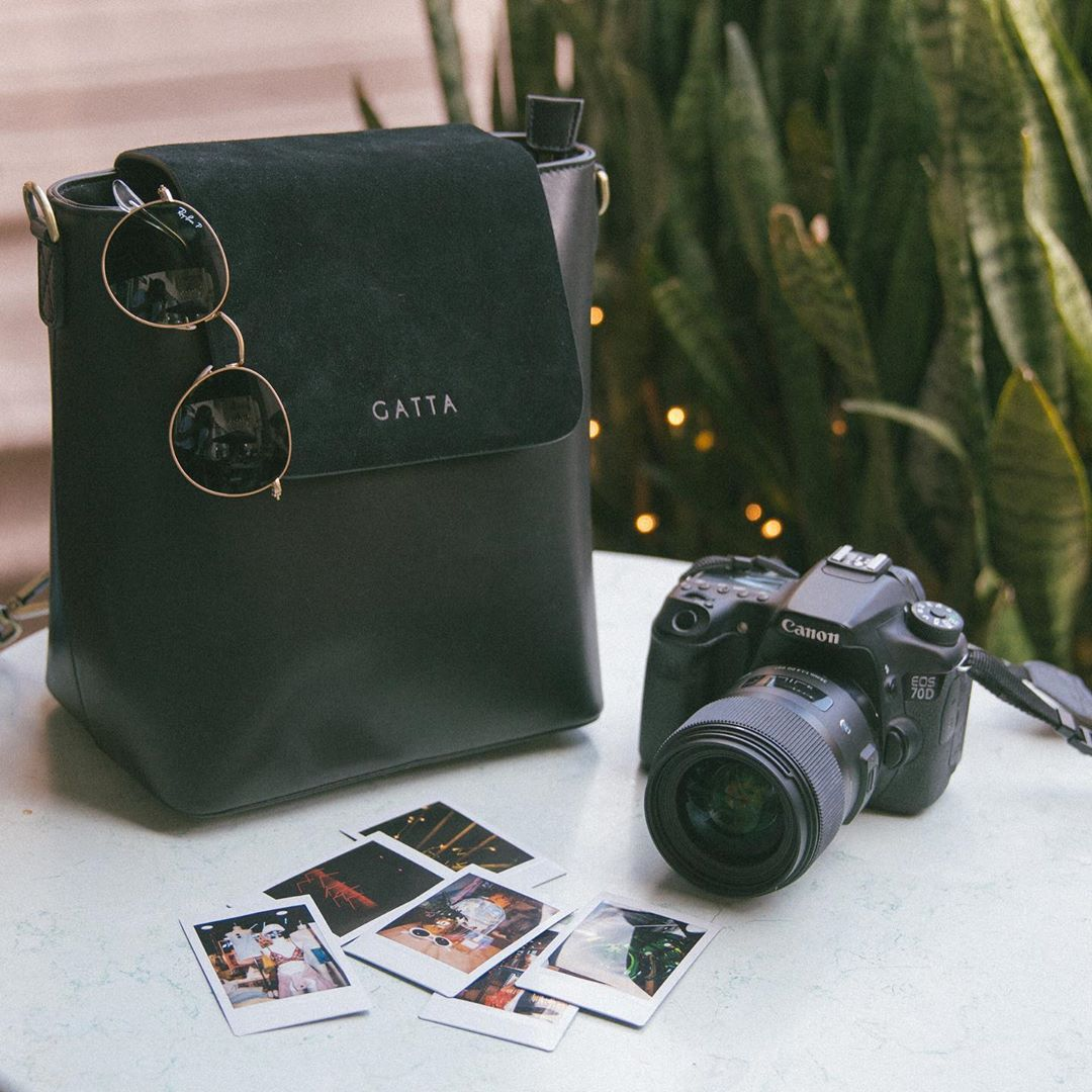 camera with bag