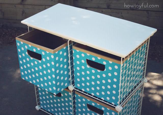 cardboard storage cubes