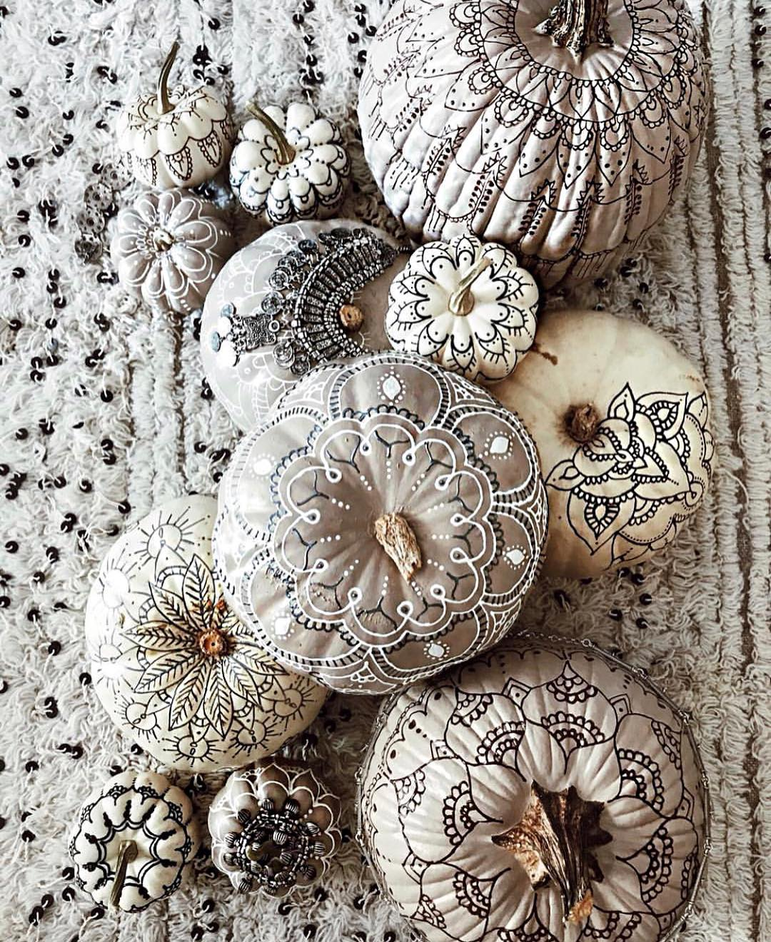 painted pumpkin henna