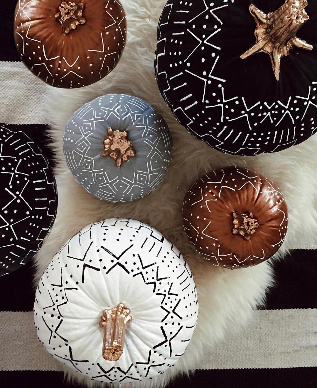 painted pumpkin moderns
