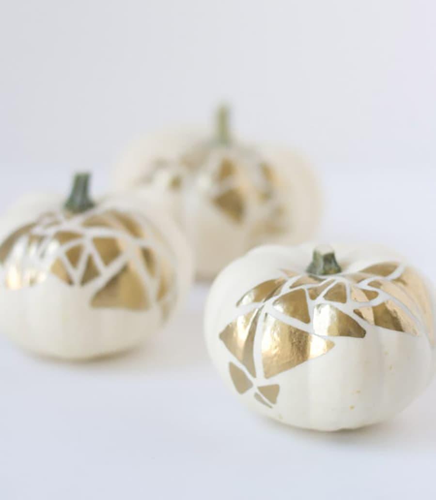 pumpkin painted gold