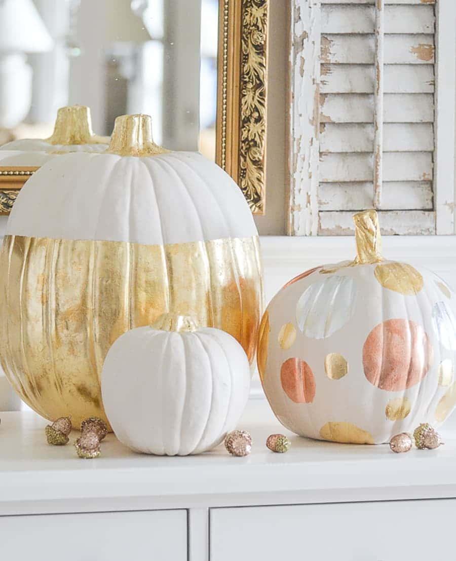 pumpkin painted gold things