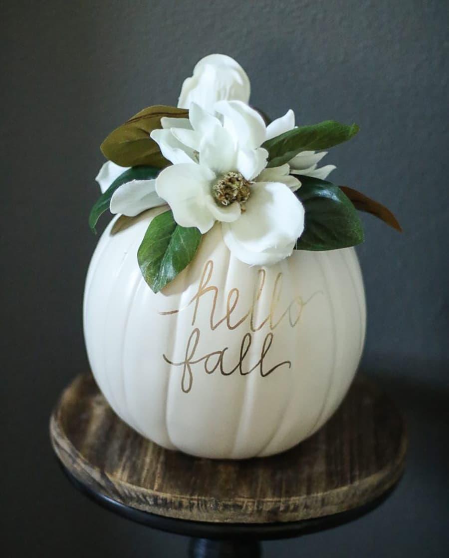 pumpkin painted magnolia