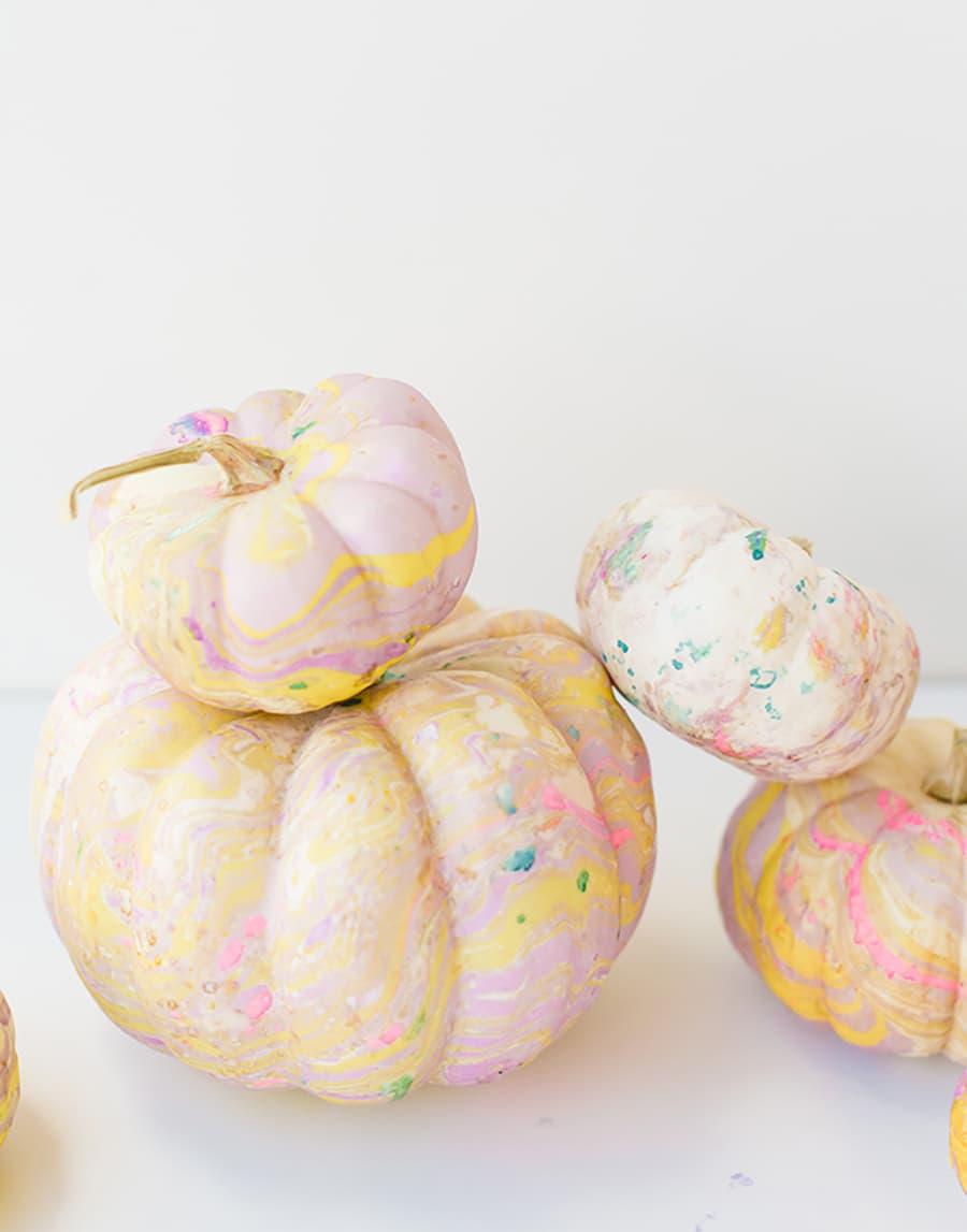 pumpkin painted splatters