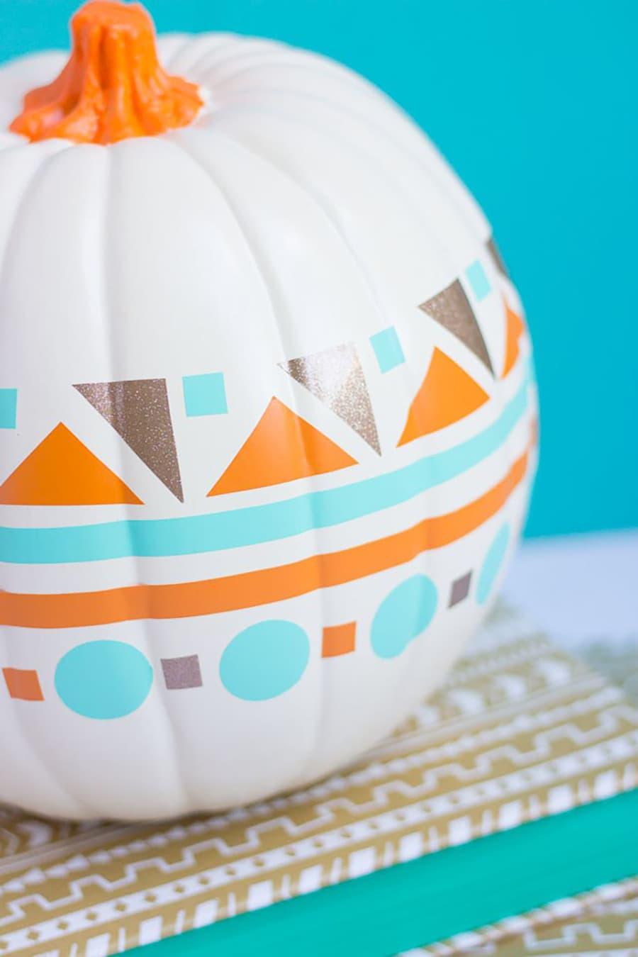 pumpkin painted vinyl