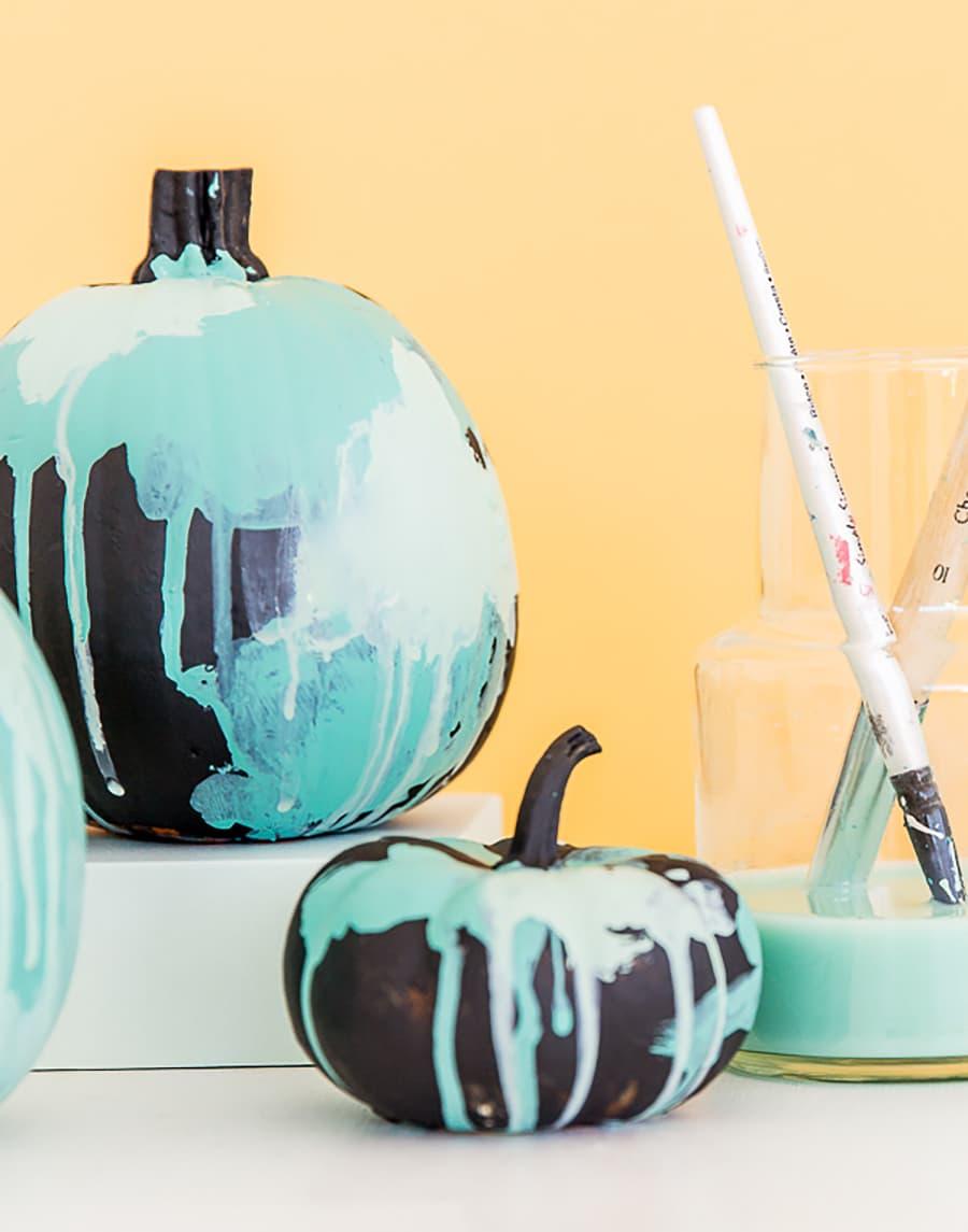 pumpkin painted modern paint