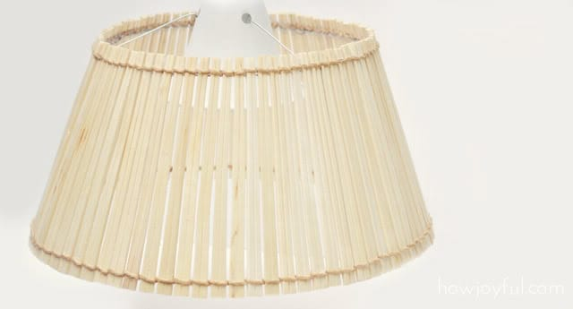 lampshade made out of chopsticks